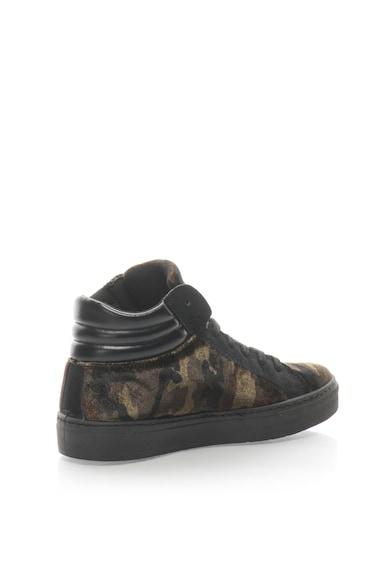 Oakoui Középmagas Szárú Bársonyos Sneakers Cipő Terepmintával női