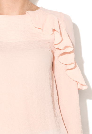 Fornarina Bluza transparenta cu volane Anica Femei