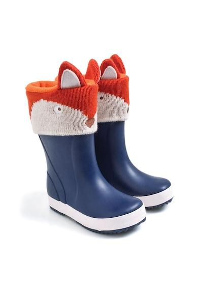 JoJo Maman Bebe Captuseala pentru cizme de ploaie, cu design vulpe Baieti