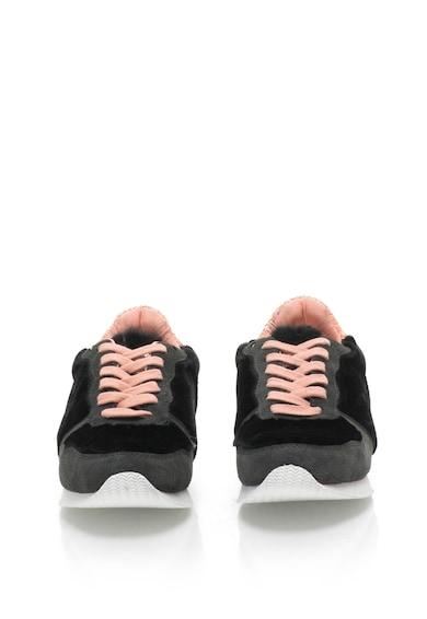Les Tropeziennes Pantofi sport cu garnituri de piele intoarsa si material teddy Cokage Femei
