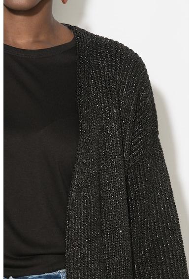 Zee Lane Denim Cardigan transparent fara inchidere cu aspect metalic Femei