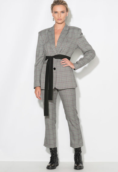 Zee Lane Collection Sacou cu model Houndstooth Femei