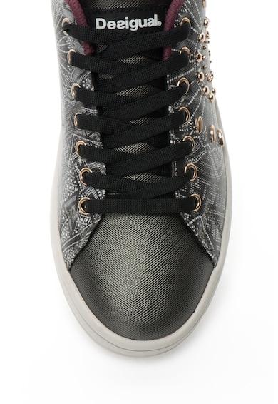 DESIGUAL Pantofi sport cu model etnic si tinte Cosmic Femei