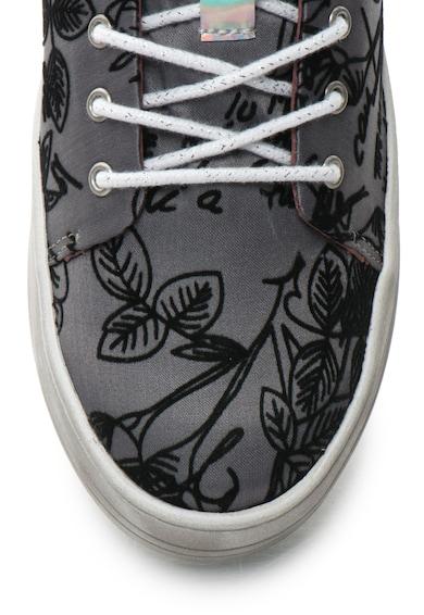 DESIGUAL Pantofi sport flatform cu model in relief Funky Femei
