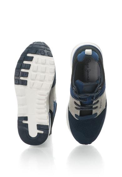 Pepe Jeans London Pantofi sport cu piele intoarsa si garnituri textile Boston Fete