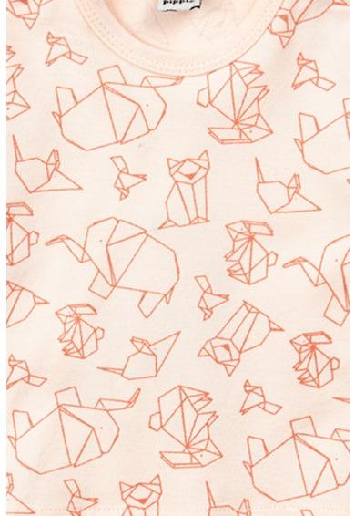 Pippi Bluza cu decolteu la baza gatului si model origami Baieti