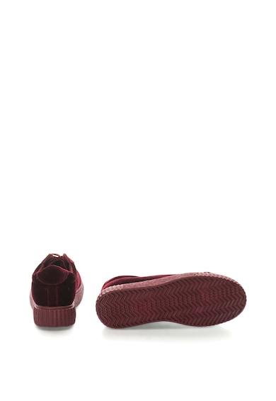 OMS by Original Marines Кадифени спортни обувки на равна платформа Жени
