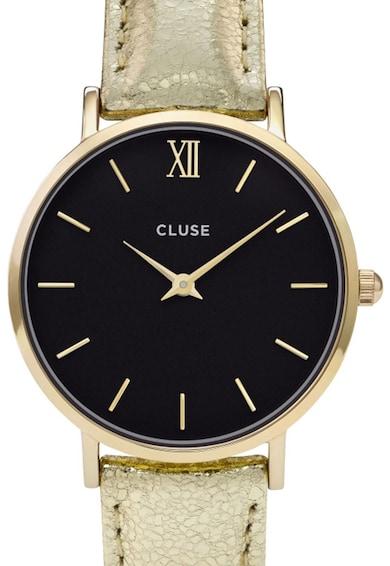 Cluse Ceas cu o curea auriu metalizat Minuit Femei