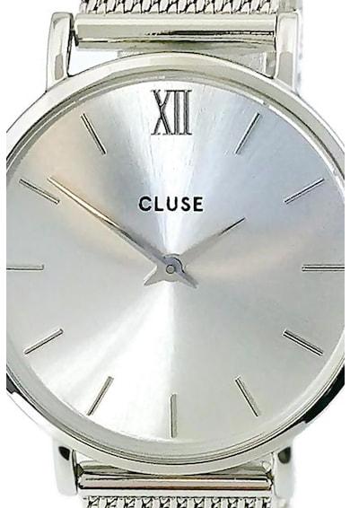 Cluse Ceas cu bratara argintie cu aspect de plasa Minuit Femei