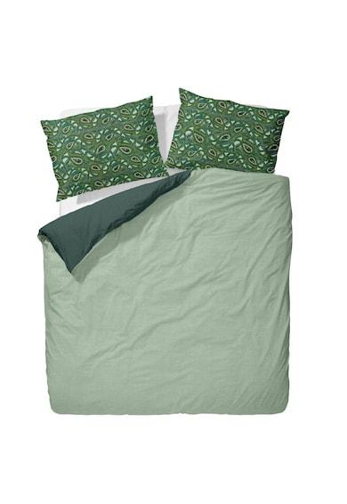 AGLIKA Спален комплект  100% памук, Калъфки за възглавници с принт, Тъмнозелен/Светлозелен Мъже