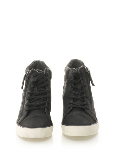 Esprit Pantofi sport de piele sintetica cu platforma wedge ascunsa Femei
