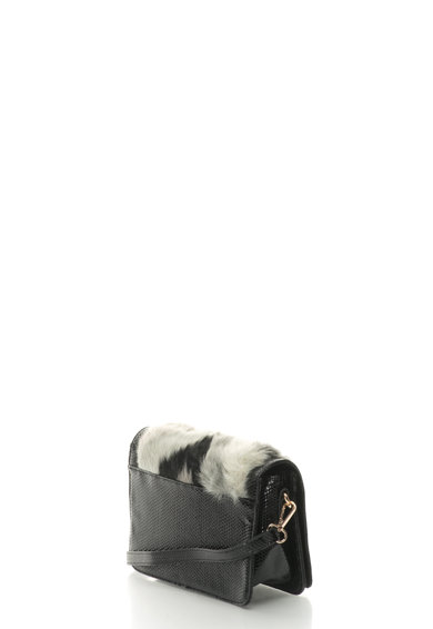 Laura Biagiotti Geanta crossbody cu detalii din blana sintetica Femei