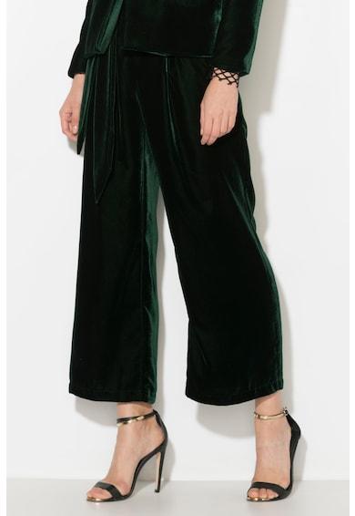 Zee Lane Collection Pantaloni culotte de catifea cu un cordon in talie Femei