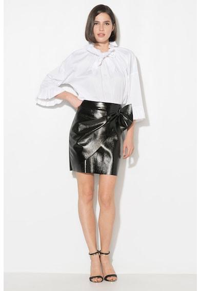 Zee Lane Collection Fusta de piele sintetica cu design petrecutZLC18F-1064 Femei