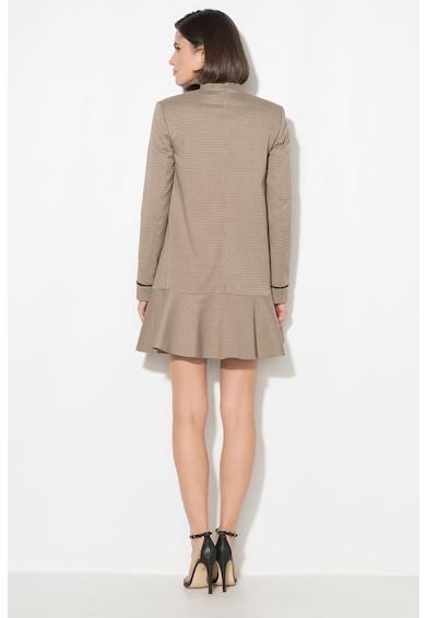 Zee Lane Collection Palton cu model houndstooth Femei