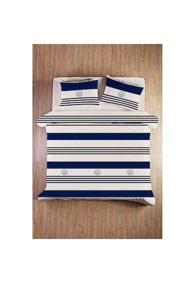 Beverly Hills Polo Club Lenjerie de pat pentru 2 persoane  bumbac ranforce, model 003, Albastru inchis Femei