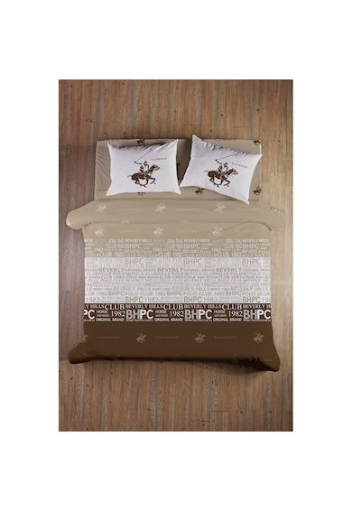 Beverly Hills Polo Club Lenjerie de pat pentru 2 persoane  bumbac ranforce, model 004, Maro Femei