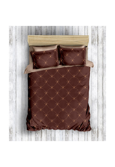 Beverly Hills Polo Club Lenjerie de pat pentru 2 persoane  bumbac ranforce, model 006, Maro Femei