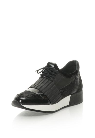 Bronx Pantofi sport de piele cu insertii din material textil Femei