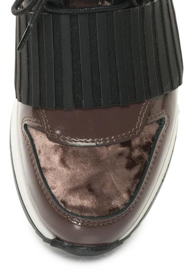 Bronx Bőr Sneakers Cipő Textilbetétekkel női