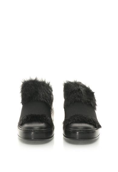 Bronx Pantofi sport slip-on de piele cu captuseala de blana sintetica Femei