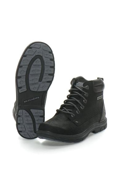 Skechers Bocanci impermeabili de piele nabuc Segment - Amson Barbati