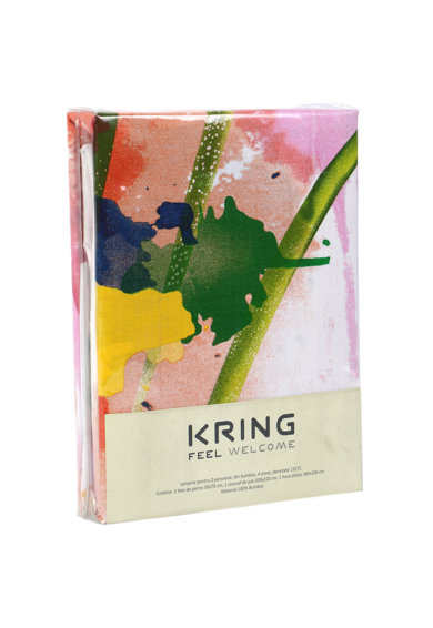 Kring Спален комплект  Pastel, 100% памук, Tulips Жени