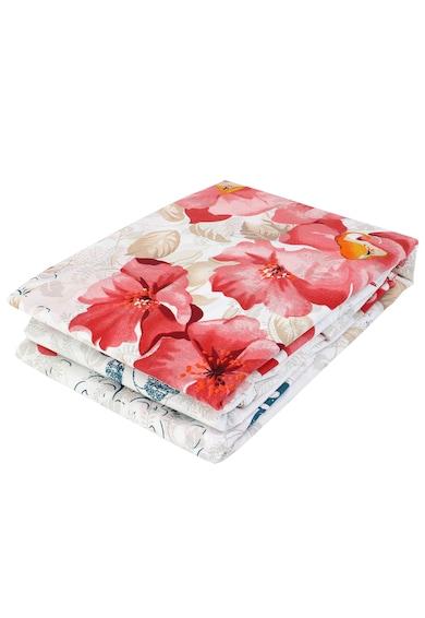 Kring Спален комплект  Pastel, 100% памук, Цветен принт, Бял/Розов Жени
