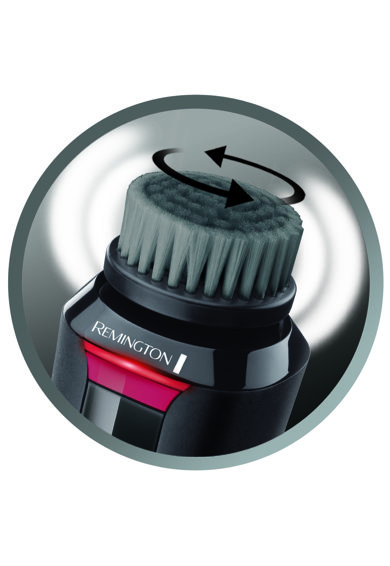 Remington Perie de curatare faciala  Recharge , design compact, actiune dubla, 2 viteze, rezistenta la apa, perie carbune, Negru Femei
