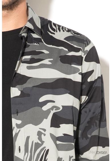 Versace Jeans Camasa extra slim fit cu model camuflaj Barbati