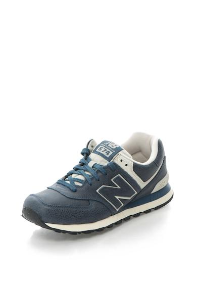 New Balance Pantofi sport de piele cu sireturi 574 Barbati