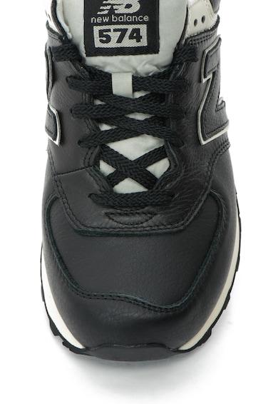 New Balance Pantofi sport de piele cu logo 574 Barbati