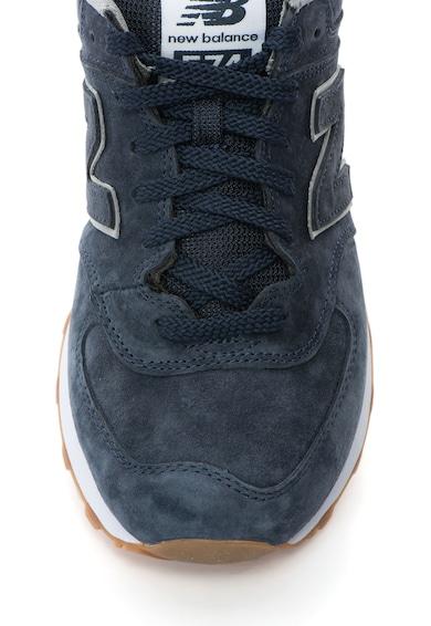 New Balance Pantofi sport de piele intoarsa cu logo 574 Barbati