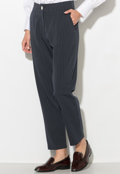 Zee Lane Collection Pantaloni conici cu dungi discrete Femei