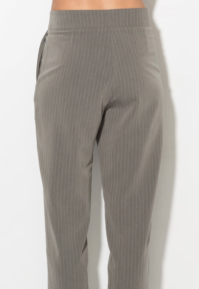 Zee Lane Collection Pantaloni conici cu dungi discrete Femei