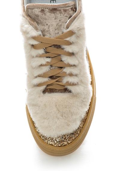 Zee Lane Pantofi sport de catifea cu garnituri de blana sintetica Femei