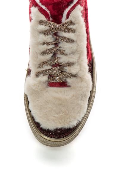 Zee Lane Bársony Sneakers Cipő Műszőrme Szegélyekkel női