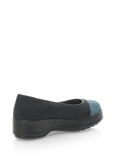 Camper Pantofi flatform texturati cu aplicatie cap-toe Twins Femei