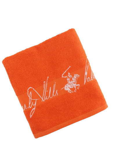 Beverly Hills Polo Club Prosop de baie,  50x100 cm, 500 g/mp, portocaliu Femei