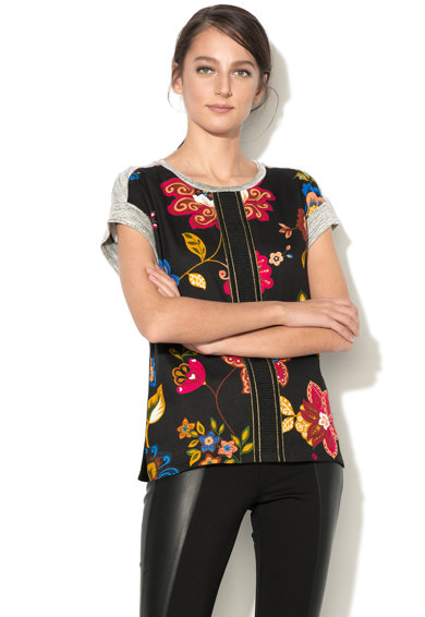 DESIGUAL Tricou cu imprimeu floral Combinada Femei