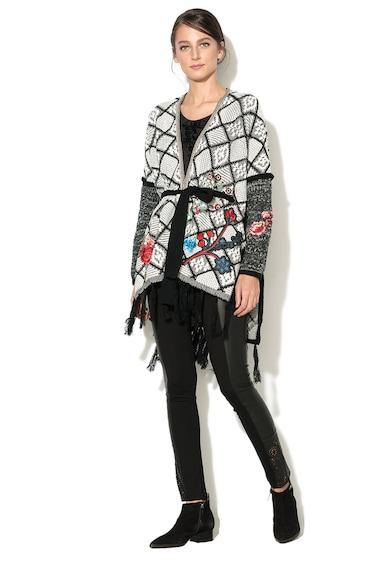DESIGUAL Cardigan tricotat cu un cordon Femei