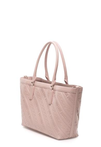Love Moschino Geanta shopper din piele sintetica saffiano cu logo in relief Femei