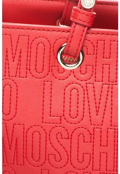 Love Moschino Geanta tote din piele sintetica cu aplicatie logo Femei