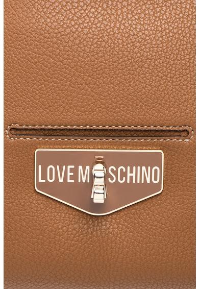 Love Moschino Geanta tote din piele sintetica cu buzunar frontal cu clapa Femei