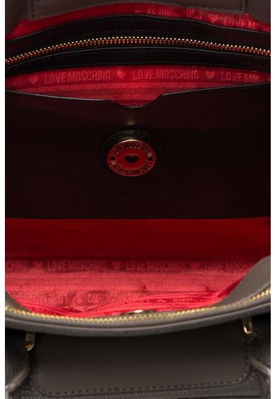 Love Moschino Geanta de piele sintetica cu textura reptila Femei