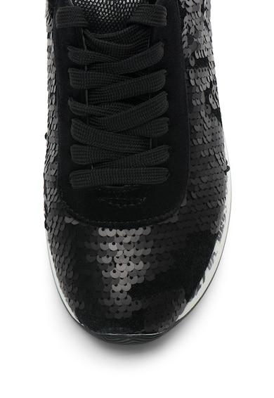 Oakoui Pantofi sport flatform cu paiete reversibile Femei