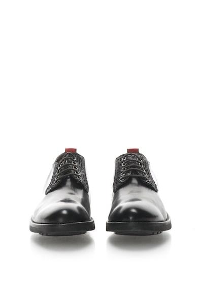 Zee Lane Bőrcipő krokodilbőr mintás betétekkel férfi