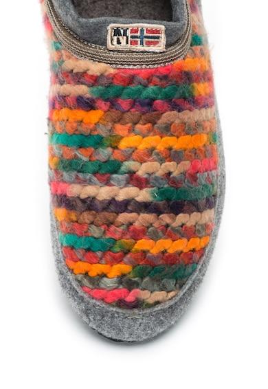 Napapijri Papuci slip-on din tricot cu garnituri de fetru Misan Femei