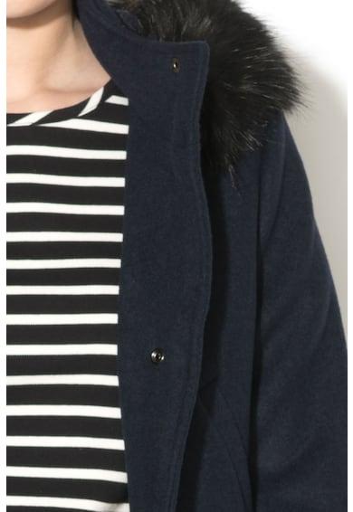 Esprit Haina scurta din amestec de lana cu garnitura de blana sintetica detasabila Femei