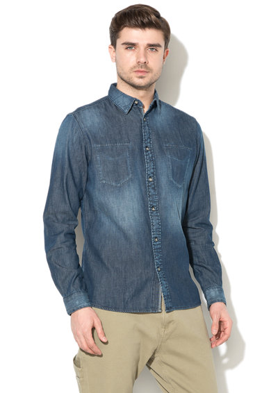 Esprit Camasa regular fit din denim Barbati